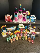 Care Bears Care-A-Lot Castle w/Lights and Sounds,18 Bears, Plane, Boat Furniture