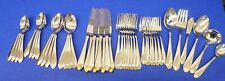 46 pcs GRENVILLE Gold Flair HRE3 by HERITAGE CHINA 18/8 Stainless Flatware JAPAN