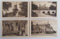 4 Postkarten POTSDAM Brandenburg Schloss Castle Sanssouci ~1920/30 ungelaufen