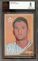 1962 topps #461 KEN HUBBS chicago cubs rookie card BGS BVG 8
