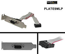 StarTech 9 Pin Serial Male to 10 Pin Header Low Profile PLATE9MLP