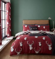 Catherine Lansfield Munro Stag Reversible Bedding & Curtains