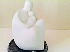 "Marbell Stone Art Belgium-Figurine Sculpture Mother & Baby~Contemporary~7"" x 5"""
