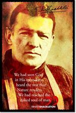 Ernest Shackleton Poster Photo Art Cadeau Citation explorateur de l'Arctique