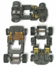 3 TYCO TCR Narrow PUSH Slot CAR Chassis Great For Decor