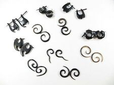 Tribal Gothic Punk Rave Streetstyle Earrings 10 pairs Horn Body Piercing Jewelry