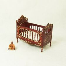 Hansson / HanaMini Miniature 1:12 - Crib - Mahogany with gold