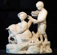 Biscuit ancien,couple de bergers, XIX