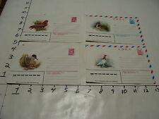 4 russian CCCP BIRD ENVELOPES