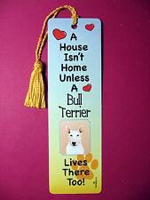 """""""Bull Terrier"""" A House Isn't Home Tassel Keb (flag gold tassel) Sku# 60"""