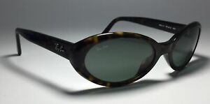 Ray Ban RB 2110 Rituals 902 Oval Sunglasses Italy Tortoise Green Glass Lenses
