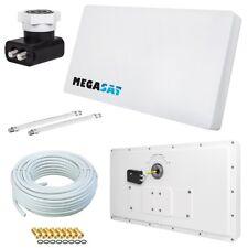 SAT Flachantenne Megasat PROFI Line D2 mit 20m Kabel digital Sat Anlage H30 HDTV