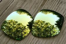 Polarized 24K Gold Mirrored Sunglass Lenses for Oakley Deviation-Grey Tint
