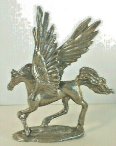 """flying Pegasus Winged Mythological Horse 3.5"""" tall Brass metal sculpture"""