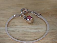 rose gold toggle clasp hanging stone stainless steel bracelet