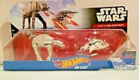Mattel Hot Wheels Star Wars Starship AT-AT vs Rebel SnowSpeeder 2-Pack NIP