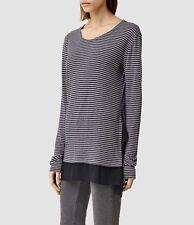NWT AllSaints Miro Long Sleeve Stripe Tee WM269H, US8 UK2 - MSRP $105