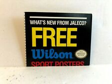 Jaleco NES Wilson Free Sports Poster Offer INSERT ONLY Authentic Nintendo