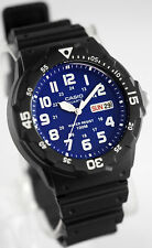 Reloj Nuevo Casio MRW-200H-2B2 Hombres Análoga 100m WR Día Fecha Resina