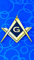 Masonic Master Mason Chain Collar Jewel Pendent Golden Chrome Finished