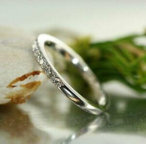 0.50 Ct Diamond Half Eternity Anniversary Wedding Band 14k White Gold Finish