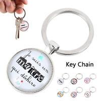 coeur médaillon porte-clés cadeau d'anniversaire pour maman soeur enseignant