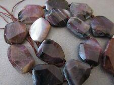 Purple Stripe Agate Faceted Freeform Beads 14pcs