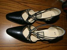 "3361) Vntg Women's Black ""Nina"" High Heel Shoes Sz 6 M Open Straps"