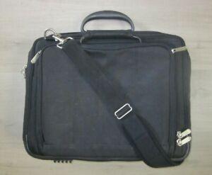 Professional Black Nylon Multi Compartment Expandable Briefcase Computer Bag