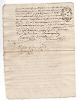 1753  KING LOUIS XV Notary signed manuscript document ROYAL LILY FLOWER stamp