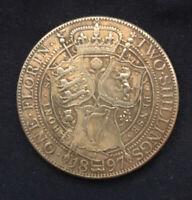 Queen Victoria *1897* Old Head - Florin /  Veiled Head-Restrike  / British Coins