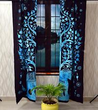Indian Mandala Wall Hanging Elephant Tree Decorative Curtains Window Door Drapes