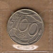 P421 Moneta Coin ITALIA Repubblica Italiana 100 Lire Italia Turrita 2° Tipo 1997