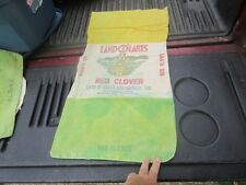 VINTAGE LAND O LAKES RED CLOVER   FEED SEED SACK BAG INDIAN MAIDEN CLOTH