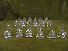 Rare 20th c southeast asia (thailand?) silver 12 knife rests Ganesh 278gr