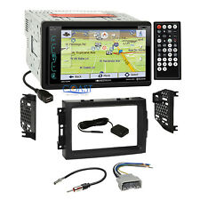 Soundstream GPS Bluetooth Stereo Dash Kit Harness for 04-08 Chrysler Dodge Jeep