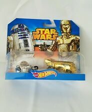 STAR WARS HOT WHEELS 2 PK C3PO R2D2 DOUBLE PACK NEW