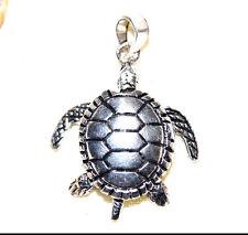 Kettenanhänger Silber Schildkröte 3,3 x 2,7cm Turtle beweglich Groß Moving Arm