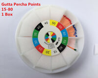 1 Box Dental Gutta Percha Points Size 15-80 Medical Oral Teeth Quality Assured