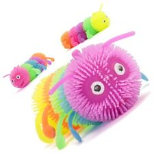 FLASHING SQUASHY CATERPILLAR LIGHT KIDS BOYS GIRLS GIFT TOY FUN PARTY BAG FILLER