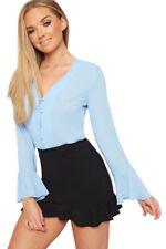 Maglie e camicie da donna blu a lunghezza lunghezza alla vita party