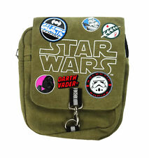 Star Wars Patches Cross Body Canvas Messenger Courier Bag Green Khaki