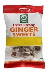 Fitzroy Extra Strong Ginger Sweets 100g