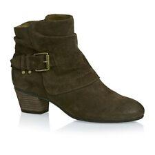 womens Clarks ladies ancle boots MELANIE JUDE KHAKI suede size 6 d