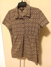 Style & Co Short Sleeve Blouse Size 16 Top