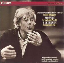 PHILIPS Mozart Beethoven BRUGGEN Symphony #40 & #1 (CD 1985 GERMANY) 416 329-2