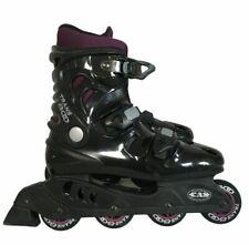 CAS Trans 800 Inline Hockey Roller Skates Blades Black Purple Size 7