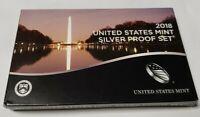 2018-S US Silver Proof Set Original Box & COA 10 Beautiful Coins NEVER OPENED