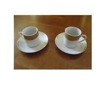 Coppia tazza tazze di caffè, col. bianco con bordo oro,  nuovo