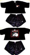 Hooters Uniform Crop Top Biker Shirt Dolfin logo Shorts Pantyhose Socks Nametag
